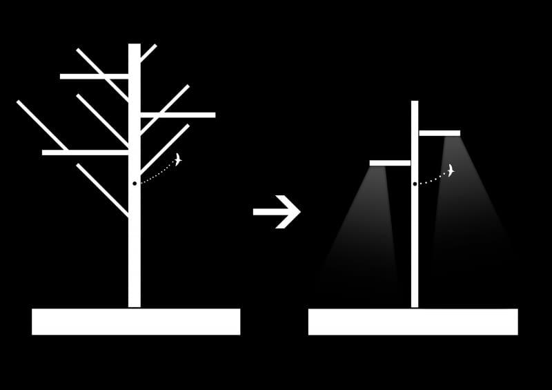 Lampa w ciąży - idea. Projekt: Ultra Architects