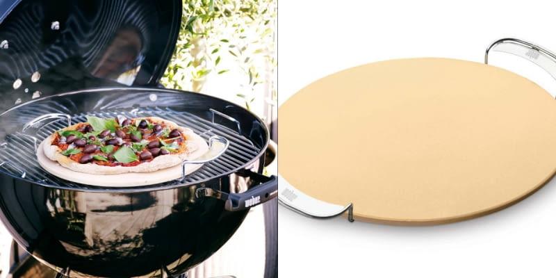 Metodą pośrednią i przy użyciu kamienia do pieczenia można przyrządzić chrupiącą i aromatyczną pizzę lub inne ciasto