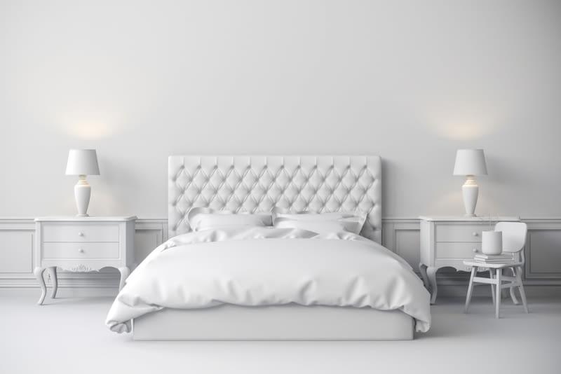 Jeśli nie jesteś pewien, jaka kolorystyka będzie idealna do Twojej sypialni - wybierz biel.