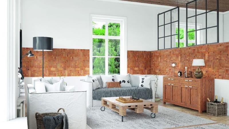 ściany w salonie, aranżacja salonu, dekoracje ścian