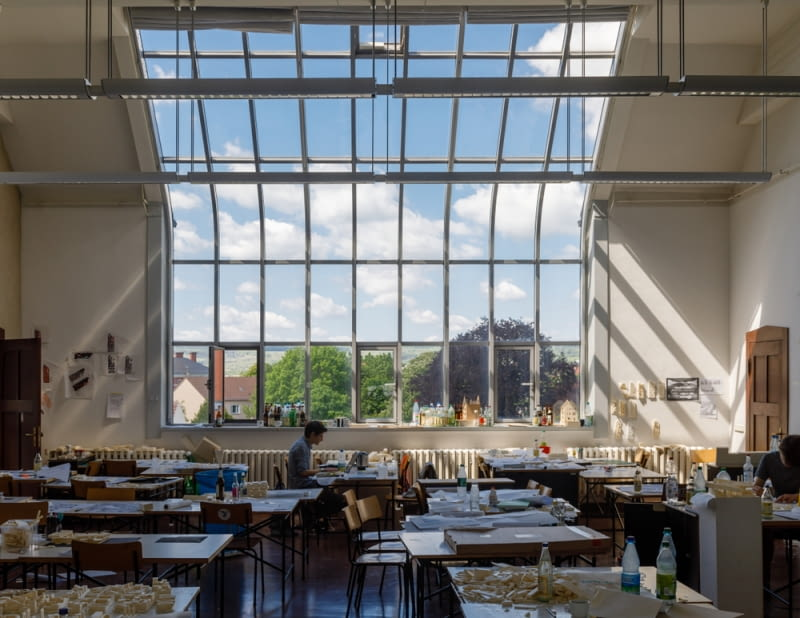 Weimar - okno w sali warsztatowej