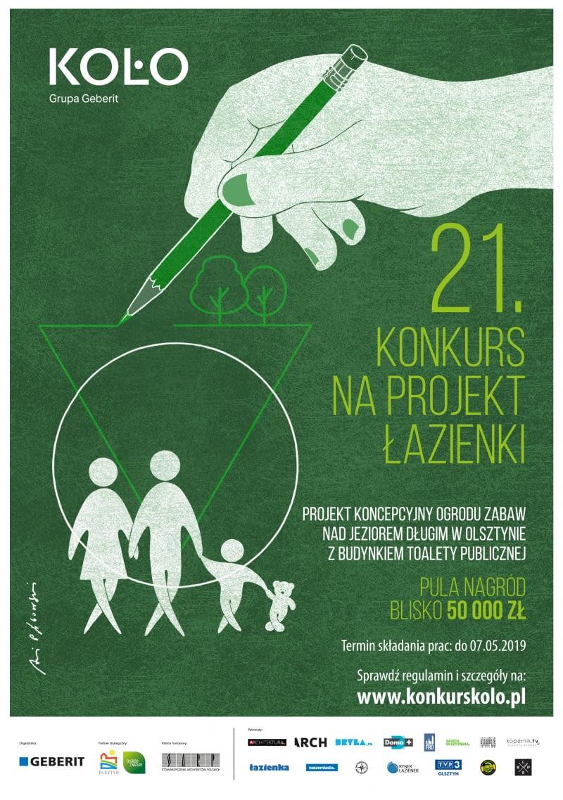21. konkurs KOŁO na projekt łazienki - plakat konkursowy