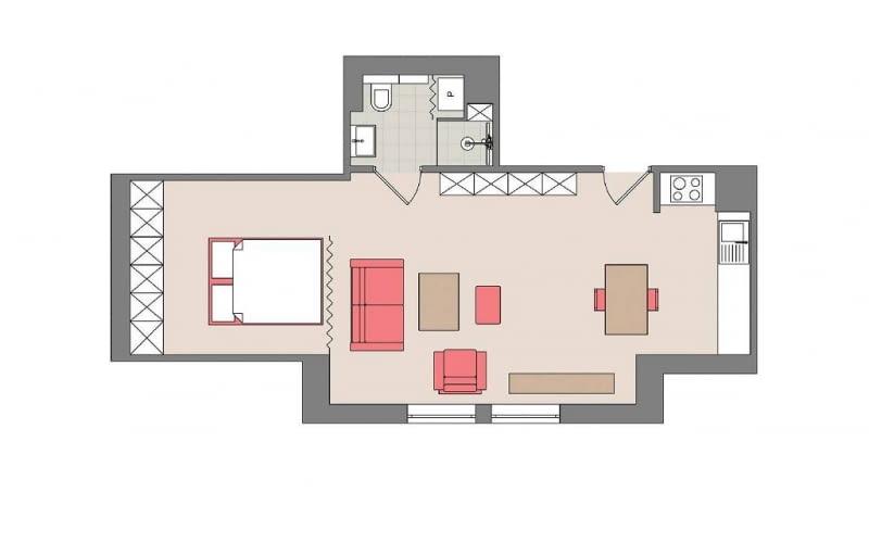 poddasze użytkowe, mieszkanie, strych, aranżacja wnętrz