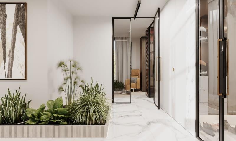 Растительность в зале