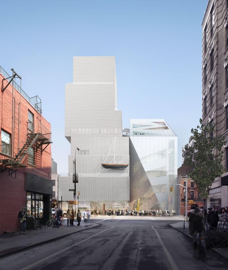 Bryła Nowego Muzeum Sztuki Współczesnej w Nowym Jorku. Proj. OMA