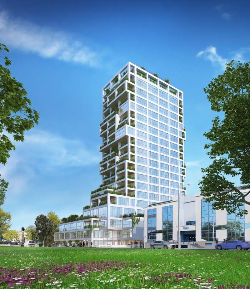 Tak będzie wyglądać budynek Sky Garden w Szczecinie. Proj. Projektownia Architekci.