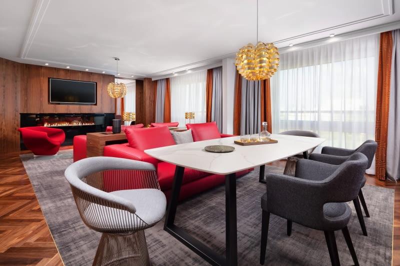 Hotel Sofitel Warsaw Victoria - Apartament Prezydencki. Salon.