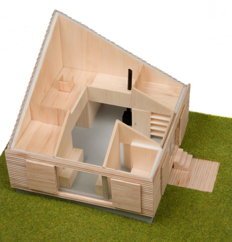 Model domu letniskowego w Żywcu. Proj. jojko+nawrocki architekci