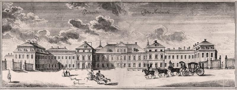 Pałac Saski w 1762 roku