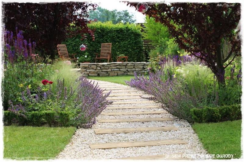 Ogród z lawendami