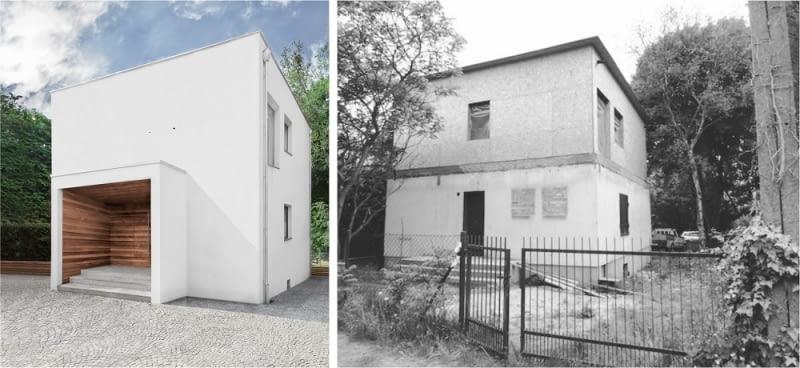 Dom w Kiekrzu - po i przed remontem