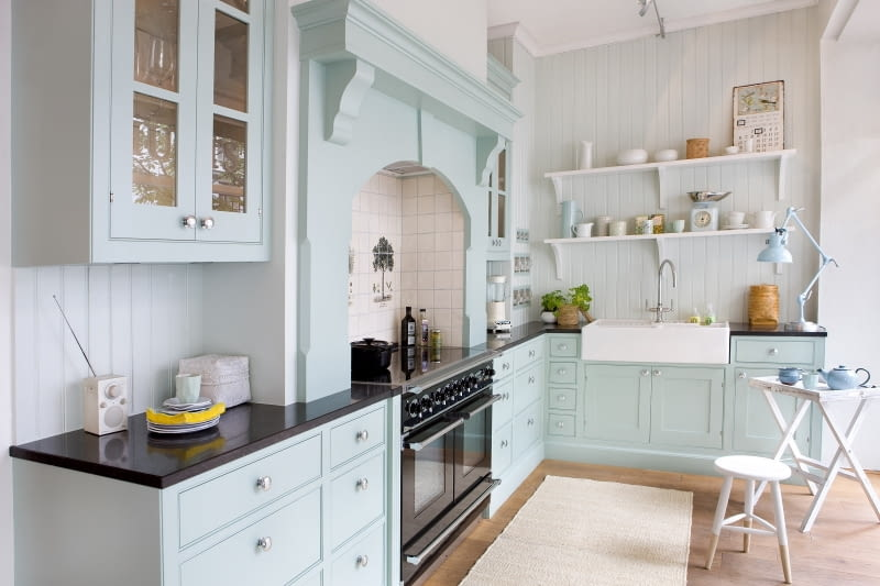 drewniana kuchnia, aranżacja kuchni, drewniane meble, szafki kuchenne