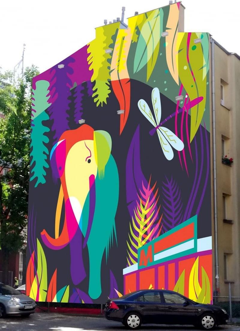 Projekt nowego warszawskiego muralu