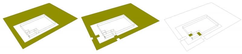 Siedziba firmy Bialmed - schemat bryły. Proj. 3XA