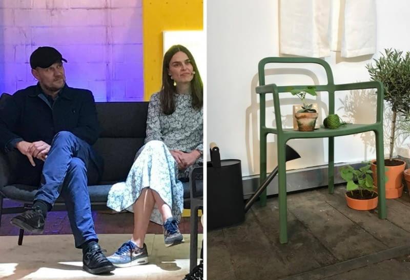 Projektanci z grupy HAY i krzesło z ich kolekcji dla IKEA.