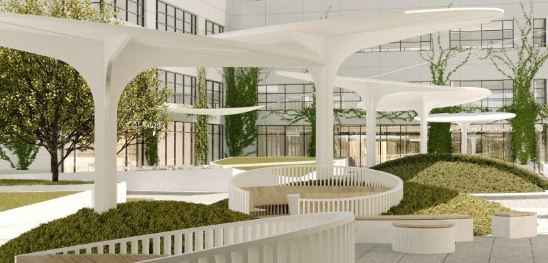 W kompleksie HOL 7.7 powstanie nowy plac miejski. Proj. Grupa Plus Architekci
