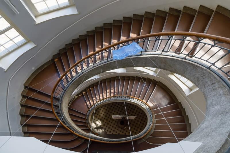 Bauhaus University Weimar - spiralna klatka schodowa
