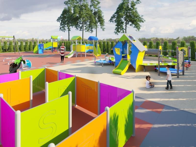 Żłobek w Czernikowie - plac zabaw. Proj. M&R Biuro Projektów