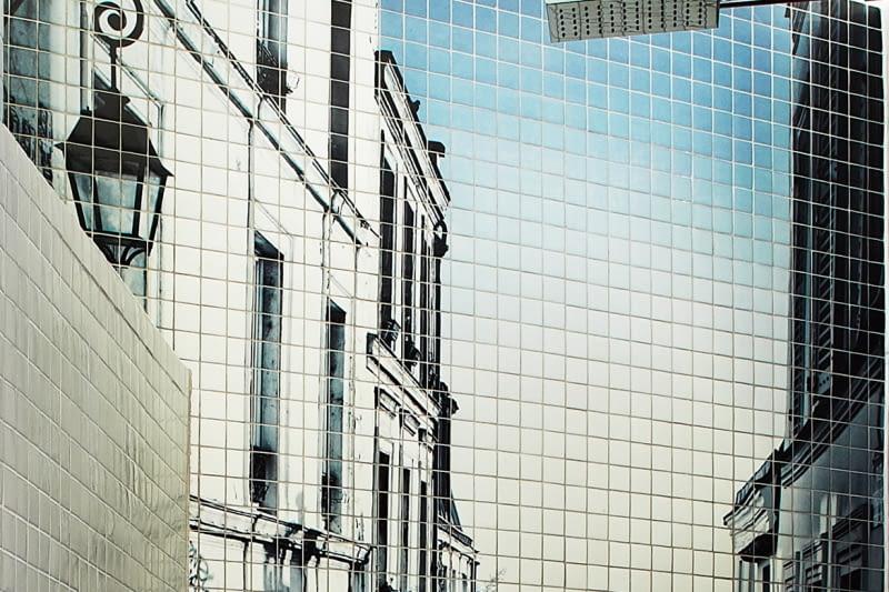 Dekoracyjna mozaika na ścianie
