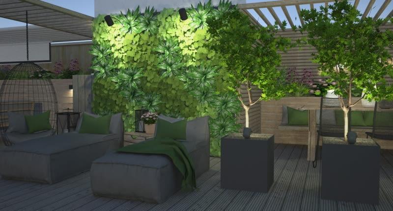 Ogród na tasie