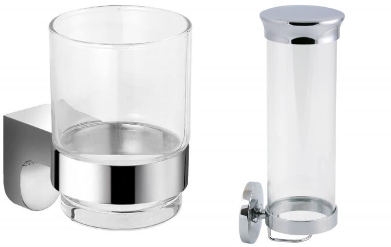 Szklany kubek Audrey, pojemnik kosmetyczny Novatorre Metalia 1.