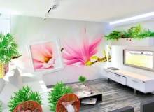 <B>Gdy mowa o dekorowaniu wnętrza, na ogół bierzemy pod uwagę malowanie ścian na modny kolor, tapetowanie, zdobienie naklejkami albo dobieranie podkreślających styl wnętrza tkanin i bibelotów. Tymczasem ciekawym urozmaiceniem wystroju mogą być też oryginalnie wyeksponowane rozwiązania architektoniczne lub niebanalnie zaprojektowana zabudowa meblowa. Oto kilka pomysłów, jak to, co użyteczne, zmienić w dekorację.</B> <BR >Pokój w kwiatach. Rośliny ustawione w donicach to sprawdzony sposób na dodanie wnętrzu ciepła i przytulności. My proponujemy kwietnik stworzony z myślą o pomieszczeniach urządzonych w nowoczesnym stylu. Miniogródek tworzy zamocowany do ściany nad telewizorem pojemnik z płyty MDF (najlepiej wodoodpornej), uszczelniony od wewnątrz folią. Otoczono go sztukaterią i podświetlono od góry.