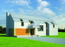 elewacja frontowa,projekt domu,projekty domów,dom jednorodzinny