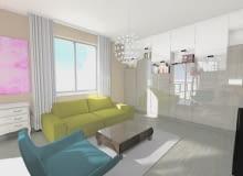 mieszkanie, Jak urządzić mieszkanie 53 m2?, projekt mieszkania