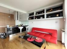 Małe w mieszkanie w stylu nowoczesnym