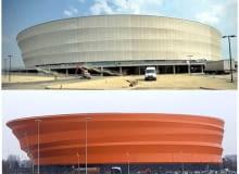 Stadion we Wrocławiu i Zenith Concert Hall w Stasburgu
