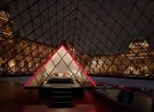 Nocleg pod piramidą w Luwrze - wspólny projekt muzeum i Arbnb.