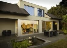 dom jednorodzinny, taras, elewacja ogrodowa