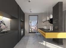 mieszkanie dla młodej pary, nowoczesne mieszkanie, projekt mieszkania