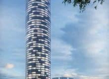 sky tower, wroclaw, projekt, wiezowiec, wieża, polska architektura, inwestycja