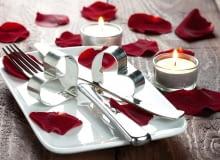 walentynki, jak ozdobić stół, romantyczne nakrycie stołu