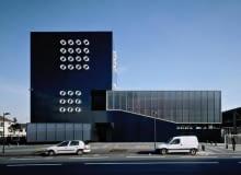 publiczne, beton, francja, budynek, komisariat