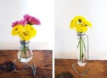 wazon z żarówki, DIY, wazonik z żarówki
