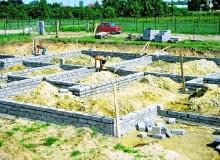 Ściany fundamentowe z bloczków betonowych