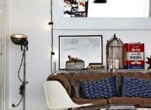 wnętrza, lofty, industrialny styl, biała podłoga