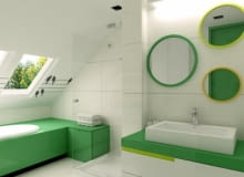 Łazienka na poddaszu jak salon kąpielowy. Projekt: Alina Badora / TECON
