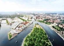 Zwycięski projekt w konkursie urbanistyczno-architektonicznym 'Łasztownia. Nowe serce miasta'