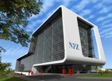 Wizualizacja nowej siedziby NFZ w Kielcach.