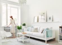 jasne mieszkanie, mieszkanie w bieli, mieszkanie w stylu skandynawskim, mieszkanie na biało