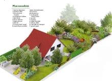 """Projekt ogrodu """"Kwiatowy labirynt"""""""