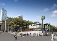 Tak ma wyglądać restauracja McDonald's w strefie kibica na pl. Defilad