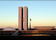 oscar niemeyer, brasilia, wystawa, parlament, brazylia
