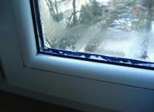okno, zaparowana szyba