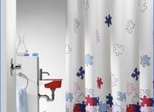 łazienka - zasłona prysznicowa