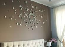 sypialnia, ściana, dekoracja