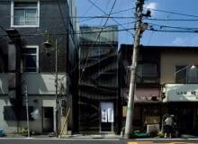 japońska architektura, japonia, restauracja, fasada, elewacja